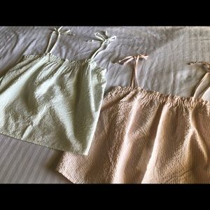 NWT Gilly Hicks size small striped sleep tops